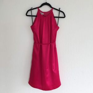 Maggy London Red Pink Silk Dress